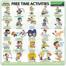 exercises y and en 19133 free time activities in verbos ingles espa 241 ol vocabulario en ingles y educacion ingles