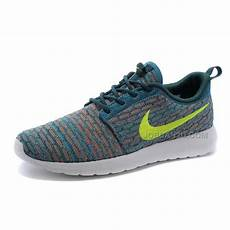 womens nike flyknit roshe run shoes green white volt