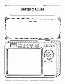 setting clues visualizing settings graphic organizer printable graphic organizers and