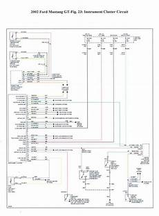 2002 Ford Mustang Wiring Diagram by Cluster Wiring Diagram Mustang Forums At Stangnet