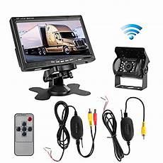 best leekooluu rc12v 24v rear view wireless ir vision backup waterproof 4 3 tft authentic leekooluu rc 12v 24v wireless ir vision rear view backup camera and 7 quot tft lcd