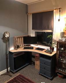 pine office furniture for the home office home office painted grey with natural pine desk top