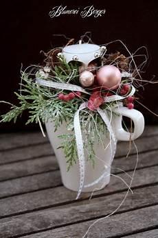 Weihnachtsdeko Adventsgesteck Quot Tasse Quot Ein