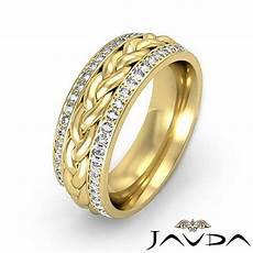 diamond mens eternity wedding band braided design