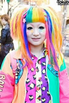 harajuku style hair bright rainbow colored harajuku decora maimai marina