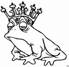 frosch mit krone 2 ausmalbild malvorlage phantasie