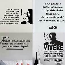 frasi di canzoni vasco vasco live kom 15 sticker da parete con le frasi pi 249