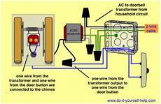 wiring a doorbell transformer diagram wiring diagrams for household doorbells do it yourself help com