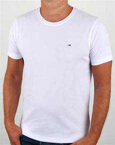 hilfiger cotton crew neck t shirt white 80s casual