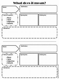 speech with what does it vocabulary graphic organizer freebie teaching