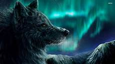 cool green wolf wallpaper anime wolf wallpaper 183 wallpapertag