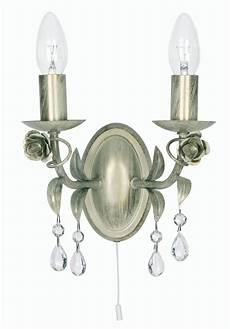 gold finish chandelier double wall light with pull