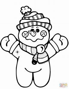 happy snowman coloring page free printable coloring pages