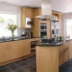 Kitchen Decorating Ideas Oak Cabinets by Modern Oak And Steel Kitchen Kitchen Design Decorating