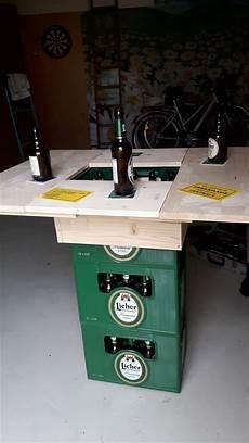 diy stehtisch mit bierkisten bierkasten stehtisch