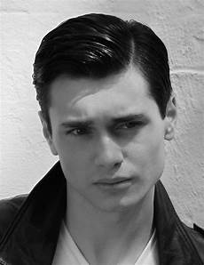 mens 1950s hairstyles short black sleek straight mens hairstyle from the teddy men s