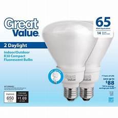 great value light bulb 14w 65w equivalent r30 cfl daylight 2 walmart com
