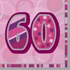 60 geburtstag servietten pink
