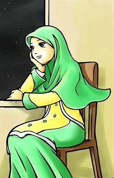 Kartun Gambar Muslimah Cantik Selamber Jer