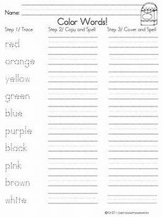 color words spelling and phonics worksheets and printables tpt