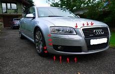 how to remove front and rear bumper audi a8 d3