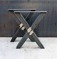 pied en metal pour table industrial x shape metal table legs 3x3 pied de table