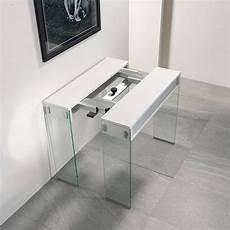 console cucina console extensible stef ch 234 ne blanc pi 233 tement en verre nel