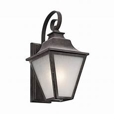 shop kichler lighting northview 17 25 in h weathered zinc outdoor wall light at lowes com