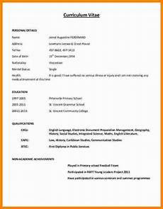 6 cv format writing theorynpractice