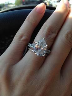 shaped diamond wedding rings wedding diamond pear shaped diamond wedding ring 2045887 weddbook