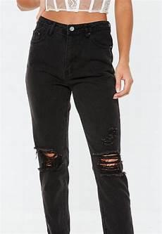 jean noir taille haute riot d 233 chir 233 missguided
