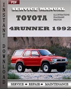 service repair manual free download 1992 toyota 4runner interior lighting toyota 4runner 1992 service manual download repair service manual pdf