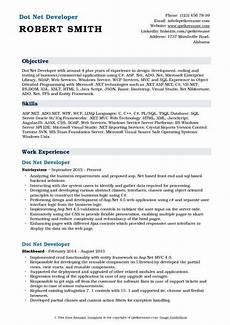 dot net developer resume sles qwikresume