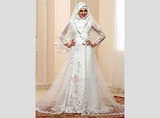 Elegant Beaded Lace Appliques Long Sleeve Tulle Arabic