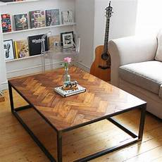 large upcycled parquet floor coffee table by ruby rhino notonthehighstreet com