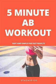 easy 5 minute ab workout 5 minute abs workout workout