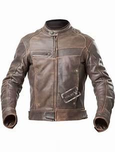 Vente Blouson Moto Homme Cuir Vintage Marron Vieilli