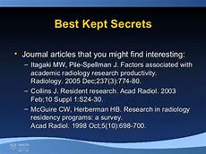 the new quot 3r s quot radiology resident research