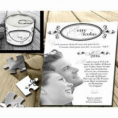 faire part puzzle faire part mariage original conserve puzzle photo