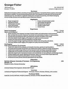 best civil engineer resume exle livecareer