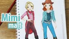 bibi und tina ausmalbilder in echt bibi tina im topmodel malbuch mimi malt die
