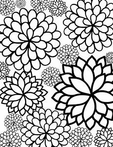 print out coloring pages of flowers bursting blossoms flower coloring page flower coloring pages printable flower coloring pages