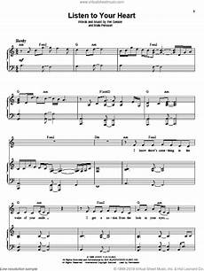 d h t listen to your heart sheet music for voice and piano