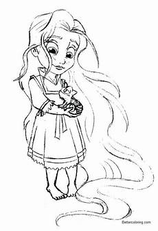disney princess baby rapunzel coloring pages free