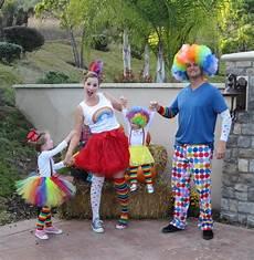 clown family costume fatos de carnaval