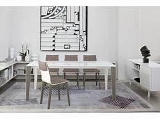 table verre design italien table repas verre laqu 233 noir design italien rectangulaire