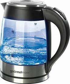 led wasserkocher gourmetmaxx wasserkocher led glas 1 8 l 2200 w otto
