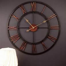 kali 68cm wall clock wrought iron vintage clocks