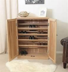 Mobel Solid Oak Hallway Furniture Large Shoe Storage