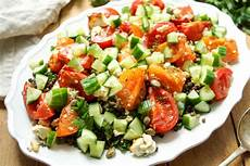 linsensalat mit ger 246 stetem feta und tomaten rezept